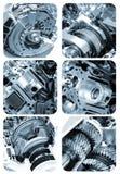 Elementos del motor automotriz seccionales foto de archivo