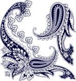 Elementos del ornamento de Paisley Imagen de archivo libre de regalías