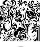 Elementos del ornamento del diseño del remolino Foto de archivo libre de regalías