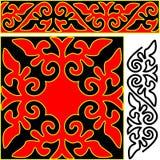 Elementos del ornamento del este. Imagen de archivo