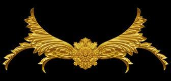 Elementos del ornamento, diseños florales del oro del vintage Fotografía de archivo libre de regalías