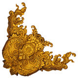Elementos del ornamento, diseños florales del oro del vintage Foto de archivo