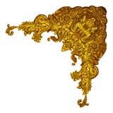 Elementos del ornamento, diseños florales del oro del vintage Imágenes de archivo libres de regalías