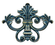Elementos del ornamento, diseños florales del oro del vintage Fotos de archivo libres de regalías