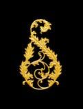 Elementos del ornamento, diseños florales del oro del vintage Fotos de archivo