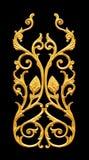 Elementos del ornamento, diseños florales del oro del vintage Foto de archivo libre de regalías