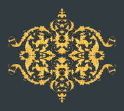 Elementos del ornamento, diseños florales del oro del vintage Imagen de archivo libre de regalías