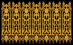Elementos del ornamento, oro del vintage floral Imagenes de archivo