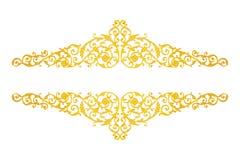 Elementos del ornamento, oro del vintage floral Foto de archivo
