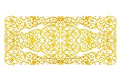 Elementos del ornamento, oro del vintage floral Fotografía de archivo