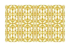 Elementos del ornamento, oro del vintage floral Imágenes de archivo libres de regalías