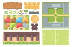 Elementos del paisaje urbano - el sistema del vector moderno se opone