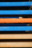 Elementos del sillón de la playa fotografía de archivo
