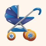 Elementos del tema de los carros de bebé Foto de archivo
