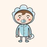 Elementos del tema del bebé del carácter de la persona Foto de archivo libre de regalías