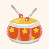 Elementos del tema del tambor del juguete del bebé Imagenes de archivo