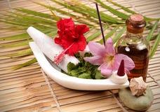 Elementos del tratamiento del balneario. Fotografía de archivo libre de regalías