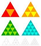 Elementos del triángulo del mosaico con rejilla del wireframe tessellation, mosa stock de ilustración