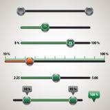 Elementos del ui del vector Fotografía de archivo