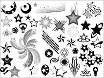 Elementos del vector de las estrellas Imagen de archivo libre de regalías