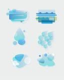 Elementos del vector del agua Foto de archivo libre de regalías