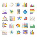 Elementos del vector del analytics del gráfico de los datos de negocio Imagenes de archivo
