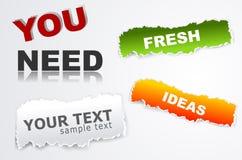 Elementos del vector para el diseño de Web Fotografía de archivo libre de regalías
