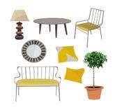 Elementos del vector para el diseño interior Imagen de archivo