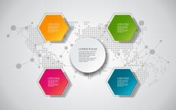 Elementos del vector para el infographic Diseñe la plantilla de la bandera/el gráfico o la disposición del sitio web Plantilla pa stock de ilustración