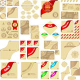 Elementos del vector para la venta. Foto de archivo libre de regalías