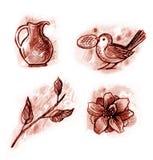 elementos del Vendimia-estilo Imagenes de archivo