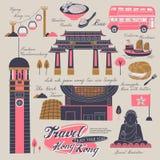 Elementos del viaje de Hong Kong Imagen de archivo