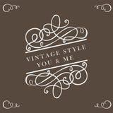 Elementos del vintage de la caligrafía imagen de archivo