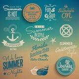 Elementos del vintage del verano Foto de archivo