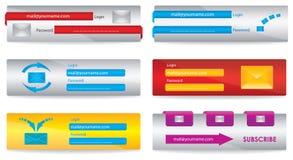 Elementos del Web Imagen de archivo libre de regalías