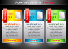 Elementos del Web. Banderas de la venta Fotos de archivo libres de regalías