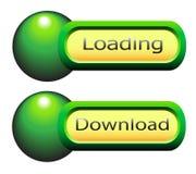 Elementos del Web a descargar y cargamento. stock de ilustración