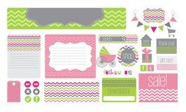 Elementos del Web site del tema del bebé Imagen de archivo libre de regalías
