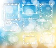Elementos desenhados à mão para o projeto Imagens de Stock