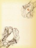 Elementos desenhados do teste padrão decorativo ilustração royalty free