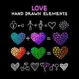 Elementos desenhados mão do projeto Fotografia de Stock
