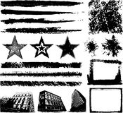 Elementos desenhados mão do projeto de Grunge Imagem de Stock