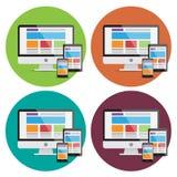 Elementos desing del web responsivo Imagen de archivo