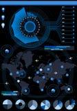 Elementos determinados del histograma de la flor de Infographic Foto de archivo libre de regalías