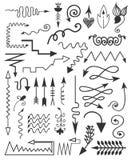 Elementos dibujados mano Fotografía de archivo libre de regalías