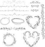 Elementos dibujados mano Foto de archivo libre de regalías