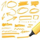 Elementos dibujados mano del diseño ilustración del vector