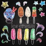 Elementos dibujados mano del menú del restaurante. Foto de archivo libre de regalías
