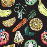 Elementos dibujados mano del menú del restaurante Imagen de archivo
