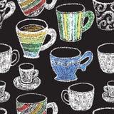 Elementos dibujados mano del menú del restaurante Imagen de archivo libre de regalías